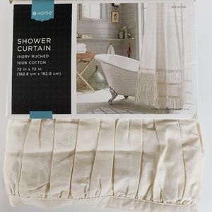 Other - Farmhouse Ivory Ruched Shower Curtain